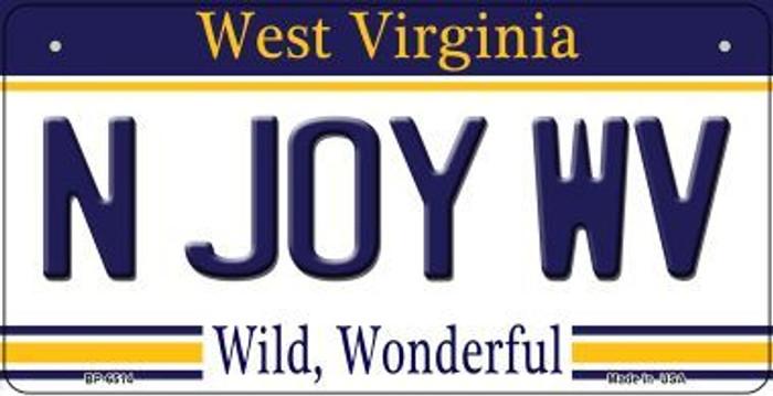 N Joy WV West Virginia Novelty Metal Bicycle Plate BP-6514