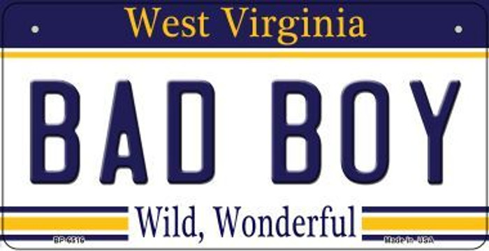 Bad Boy West Virginia Novelty Metal Bicycle Plate BP-6516