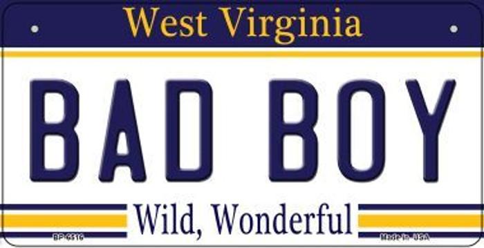 Bad Boy West Virginia Novelty Metal Bicycle Plate BP-6516