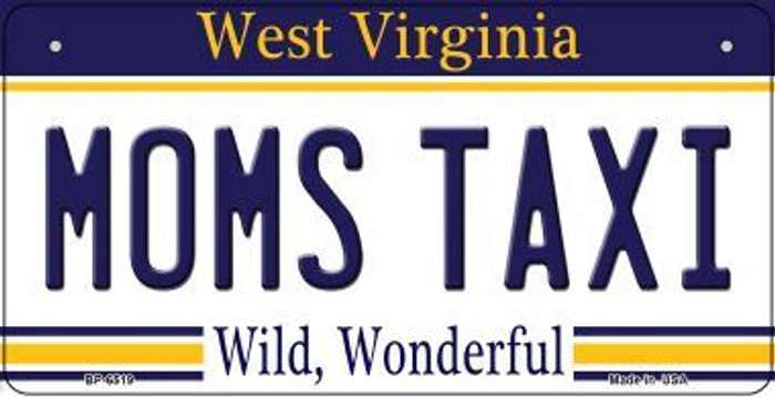 Moms Taxi West Virginia Novelty Metal Bicycle Plate BP-6519