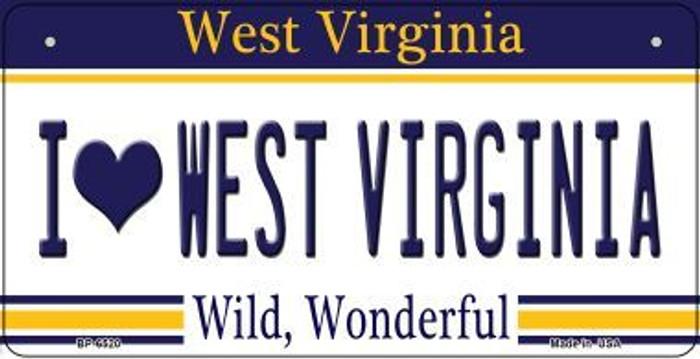 I Love West Virginia Novelty Metal Bicycle Plate BP-6520