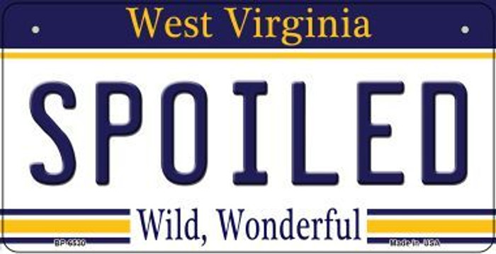 Spoiled West Virginia Novelty Metal Bicycle Plate BP-6530