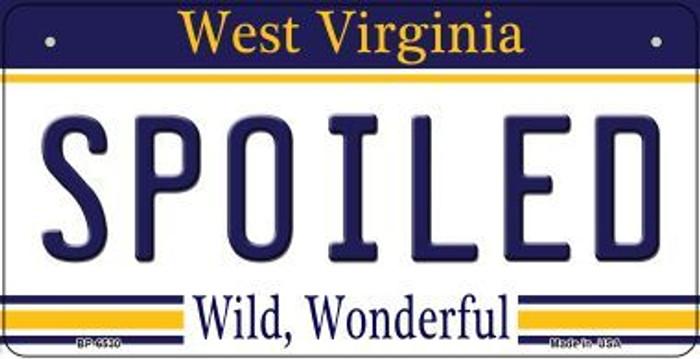 Spoiled West Virginia Novelty Metal Bicycle Plate BP-6530
