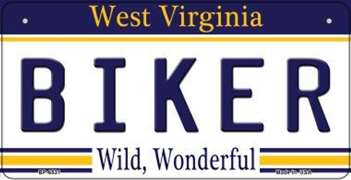 Biker West Virginia Novelty Metal Bicycle Plate BP-6531