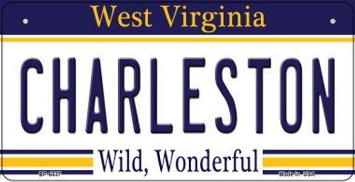 Charleston West Virginia Novelty Metal Bicycle Plate BP-6537