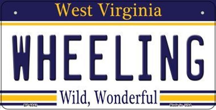 Wheeling West Virginia Novelty Metal Bicycle Plate BP-6542