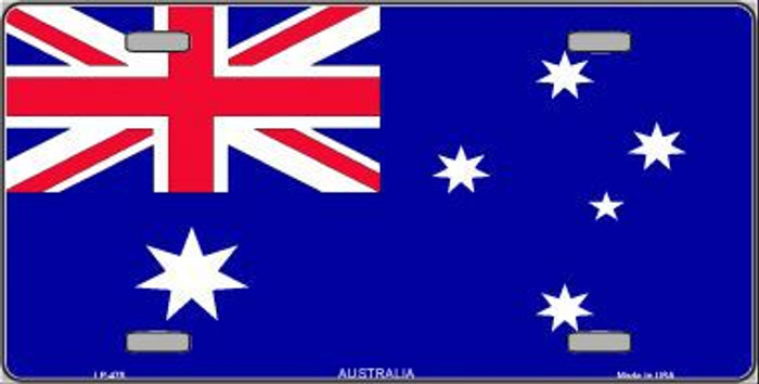 Australia Flag Metal Novelty License Plate LP-475