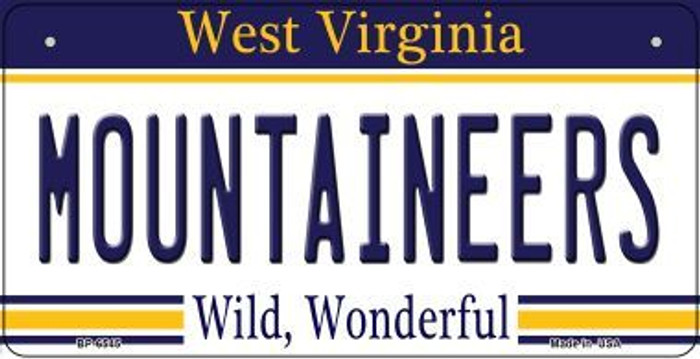 Mountaineers West Virginia Novelty Metal Bicycle Plate BP-6545