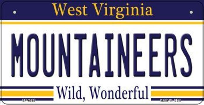 Mountaineers West Virginia Novelty Metal Bicycle Plate BP-6545