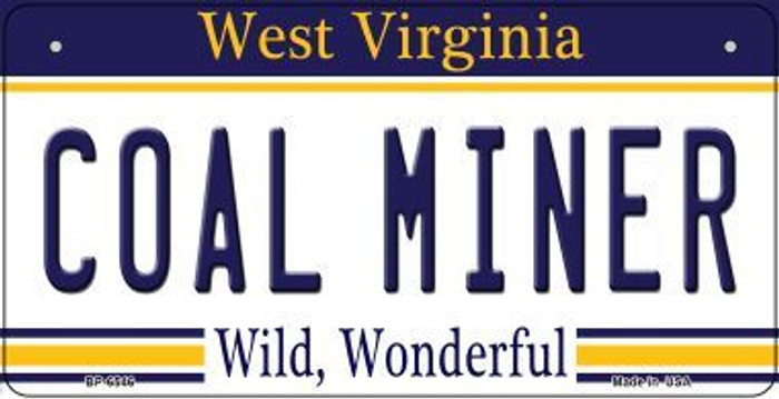 Coal Miner West Virginia Novelty Metal Bicycle Plate BP-6546