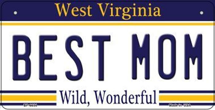 Best Mom West Virginia Novelty Metal Bicycle Plate BP-6654