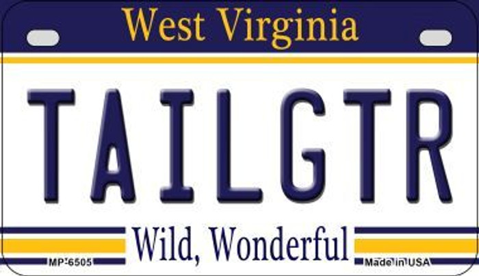 Tailgtr West Virginia Novelty Metal Motorcycle Plate MP-6505