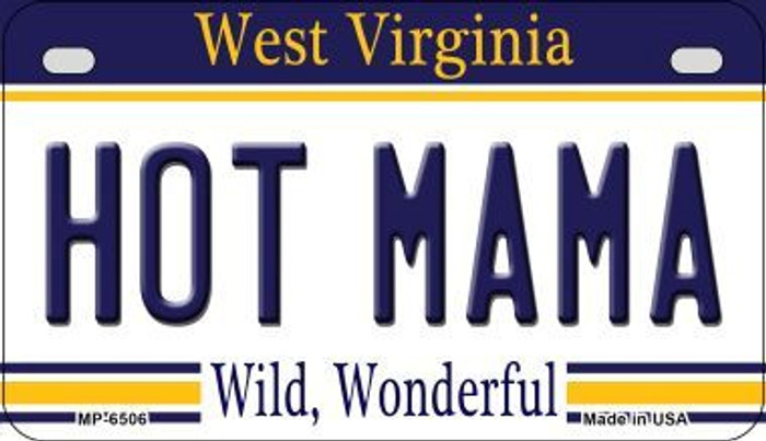 Hot Mama West Virginia Novelty Metal Motorcycle Plate MP-6506