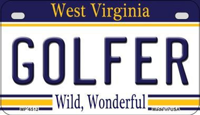 Golfer West Virginia Novelty Metal Motorcycle Plate MP-6512