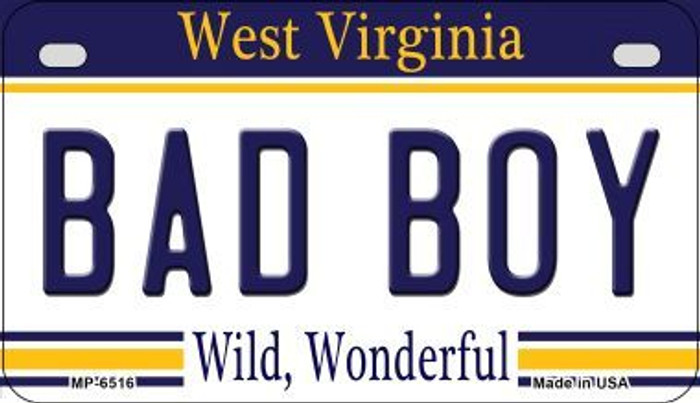 Bad Boy West Virginia Novelty Metal Motorcycle Plate MP-6516