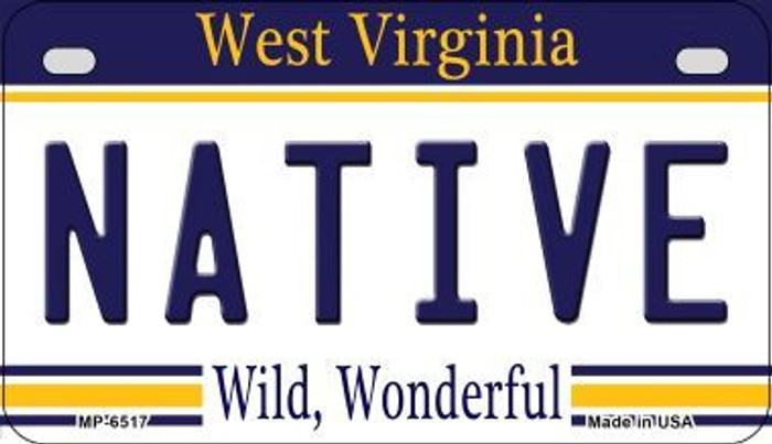 Native West Virginia Novelty Metal Motorcycle Plate MP-6517