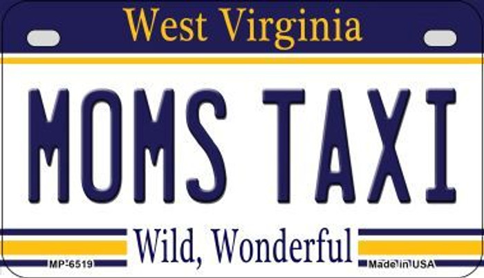 Moms Taxi West Virginia Novelty Metal Motorcycle Plate MP-6519