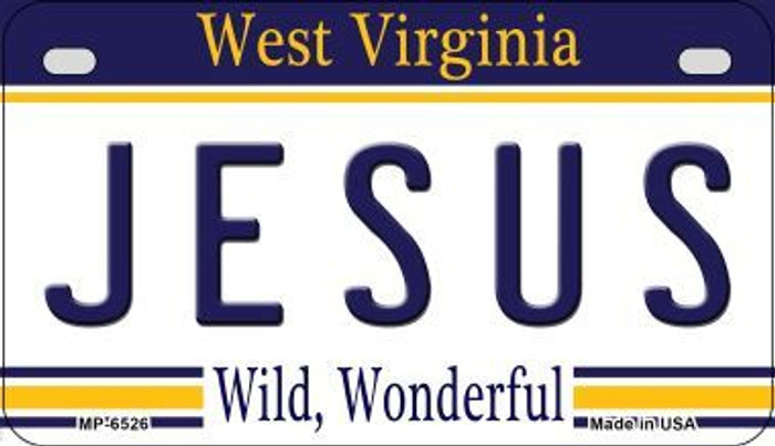 Jesus West Virginia Novelty Metal Motorcycle Plate MP-6526