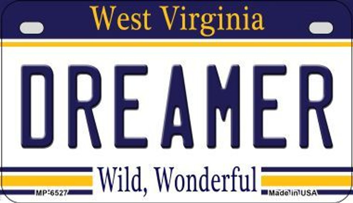Dreamer West Virginia Novelty Metal Motorcycle Plate MP-6527