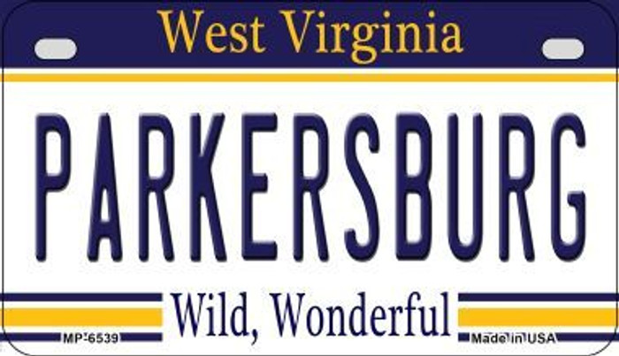Parkersburg West Virginia Novelty Metal Motorcycle Plate MP-6539