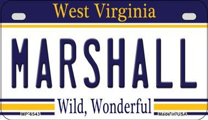 Marshall West Virginia Novelty Metal Motorcycle Plate MP-6543