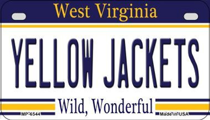 Yellow Jackets West Virginia Novelty Metal Motorcycle Plate MP-6544