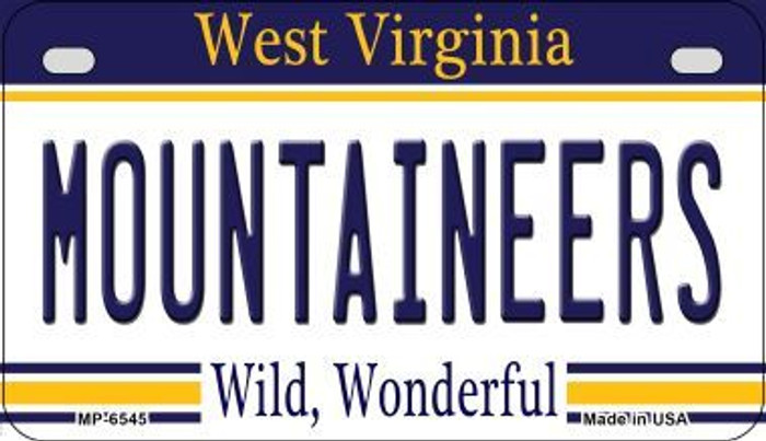 Mountaineers West Virginia Novelty Metal Motorcycle Plate MP-6545