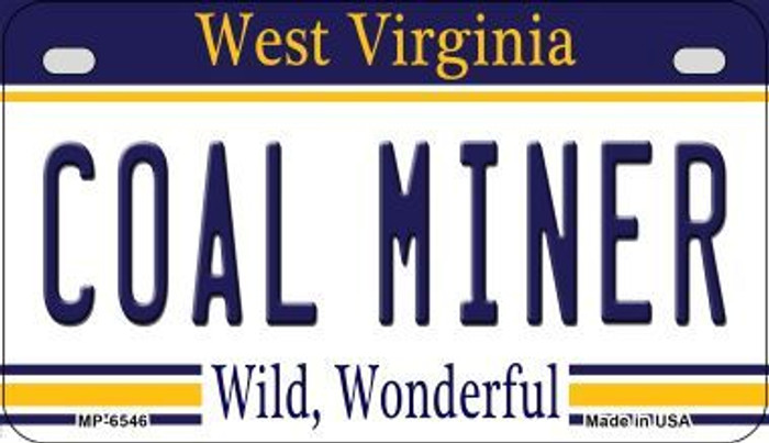 Coal Miner West Virginia Novelty Metal Motorcycle Plate MP-6546