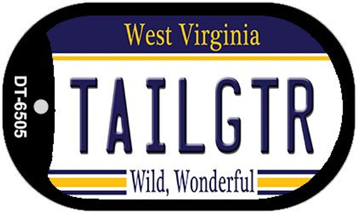 Tailgtr West Virginia Novelty Metal Dog Tag Necklace DT-6505