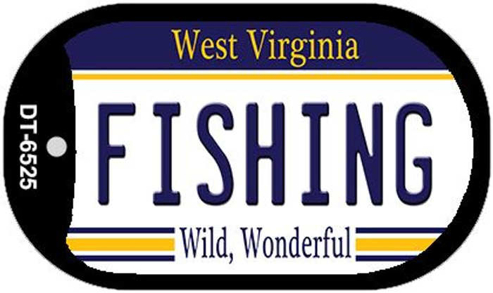 Fishing West Virginia Novelty Metal Dog Tag Necklace DT-6525