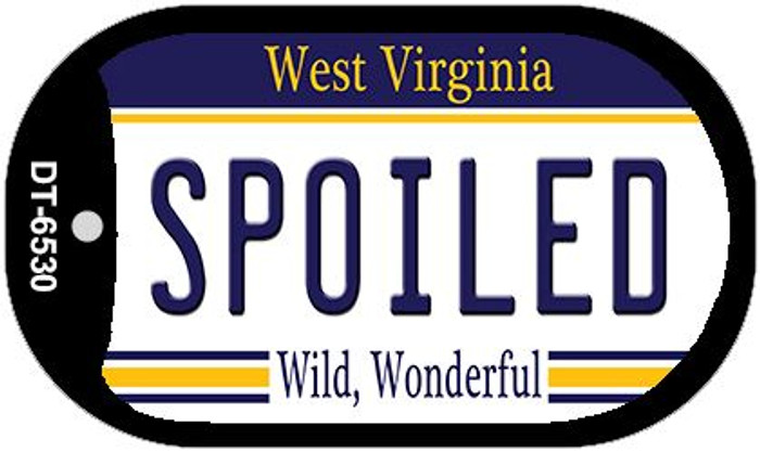 Spoiled West Virginia Novelty Metal Dog Tag Necklace DT-6530