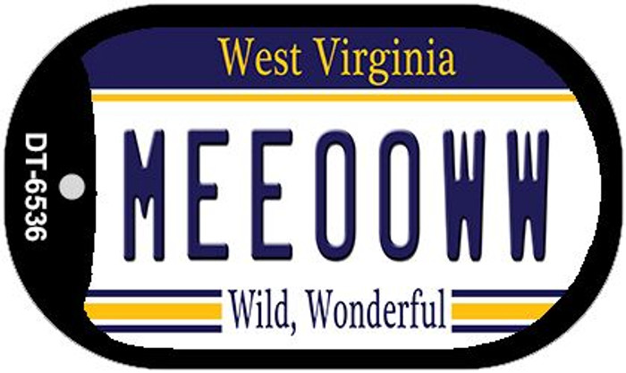 Meeooww West Virginia Novelty Metal Dog Tag Necklace DT-6536