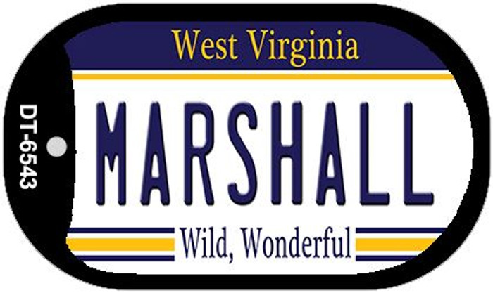 Marshall West Virginia Novelty Metal Dog Tag Necklace DT-6543