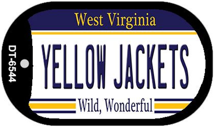Yellow Jackets West Virginia Novelty Metal Dog Tag Necklace DT-6544
