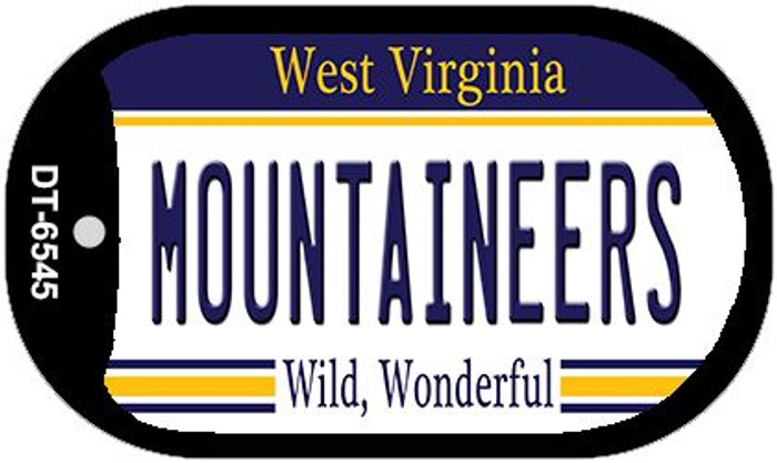 Mountaineers West Virginia Novelty Metal Dog Tag Necklace DT-6545