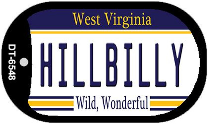 Hillbilly West Virginia Novelty Metal Dog Tag Necklace DT-6548