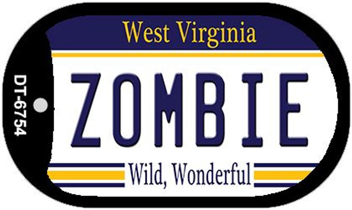 Zombie West Virginia Novelty Metal Dog Tag Necklace DT-6754