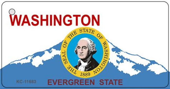 Washington State Seal Novelty Metal Key Chain KC-11683