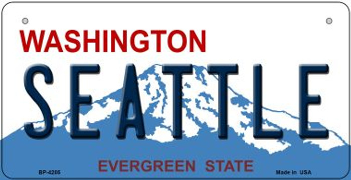 Seattle Washington Novelty Metal Bicycle Plate BP-4205