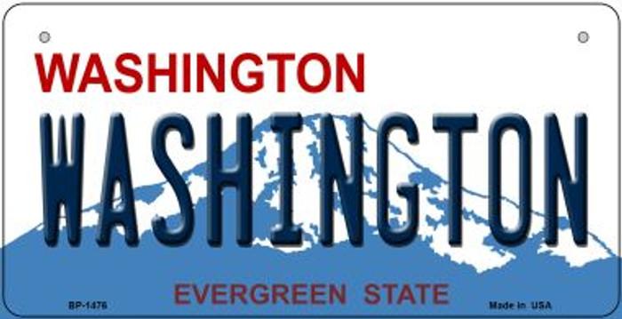 Washington Novelty Metal Bicycle Plate BP-1476