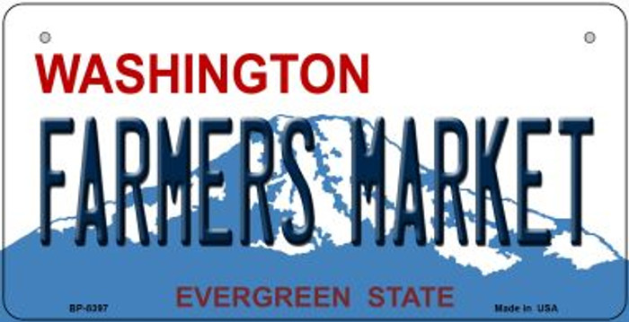 Farmers Market Washington Novelty Metal Bicycle Plate BP-8397