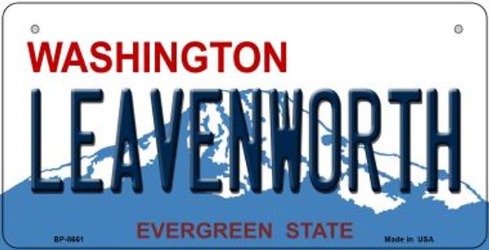Leavenworth Washington Novelty Metal Bicycle Plate BP-8661
