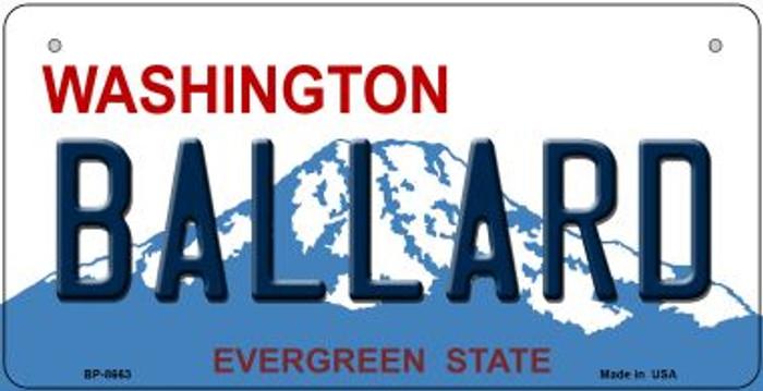Ballard Washington Novelty Metal Bicycle Plate BP-8663