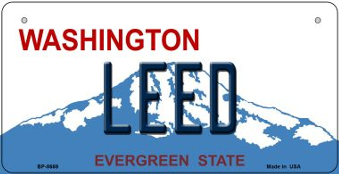 Leed Washington Novelty Metal Bicycle Plate BP-8669