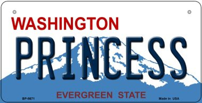 Princess Washington Novelty Metal Bicycle Plate BP-8671