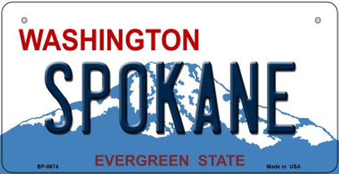 Spokane Washington Novelty Metal Bicycle Plate BP-8674