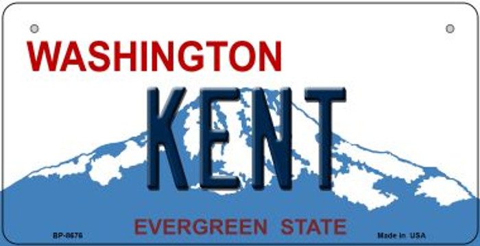 Kent Washington Novelty Metal Bicycle Plate BP-8676