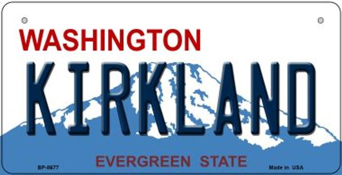 Kirkland Washington Novelty Metal Bicycle Plate BP-8677