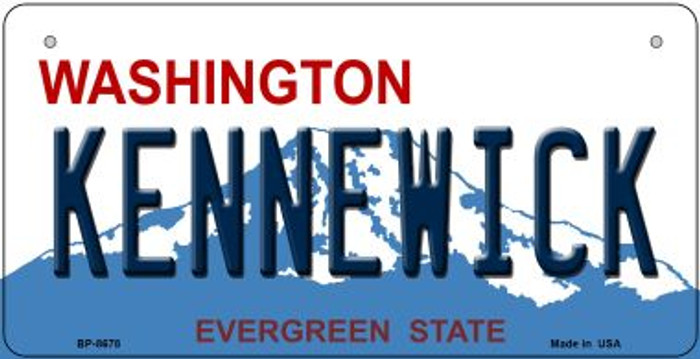 Kennewick Washington Novelty Metal Bicycle Plate BP-8678