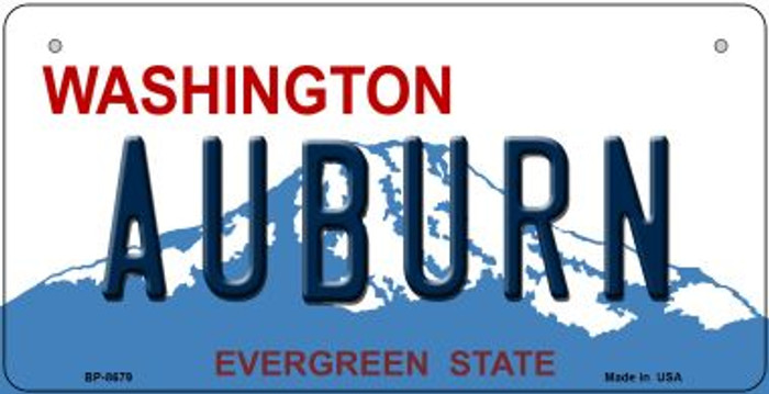 Auburn Washington Novelty Metal Bicycle Plate BP-8679